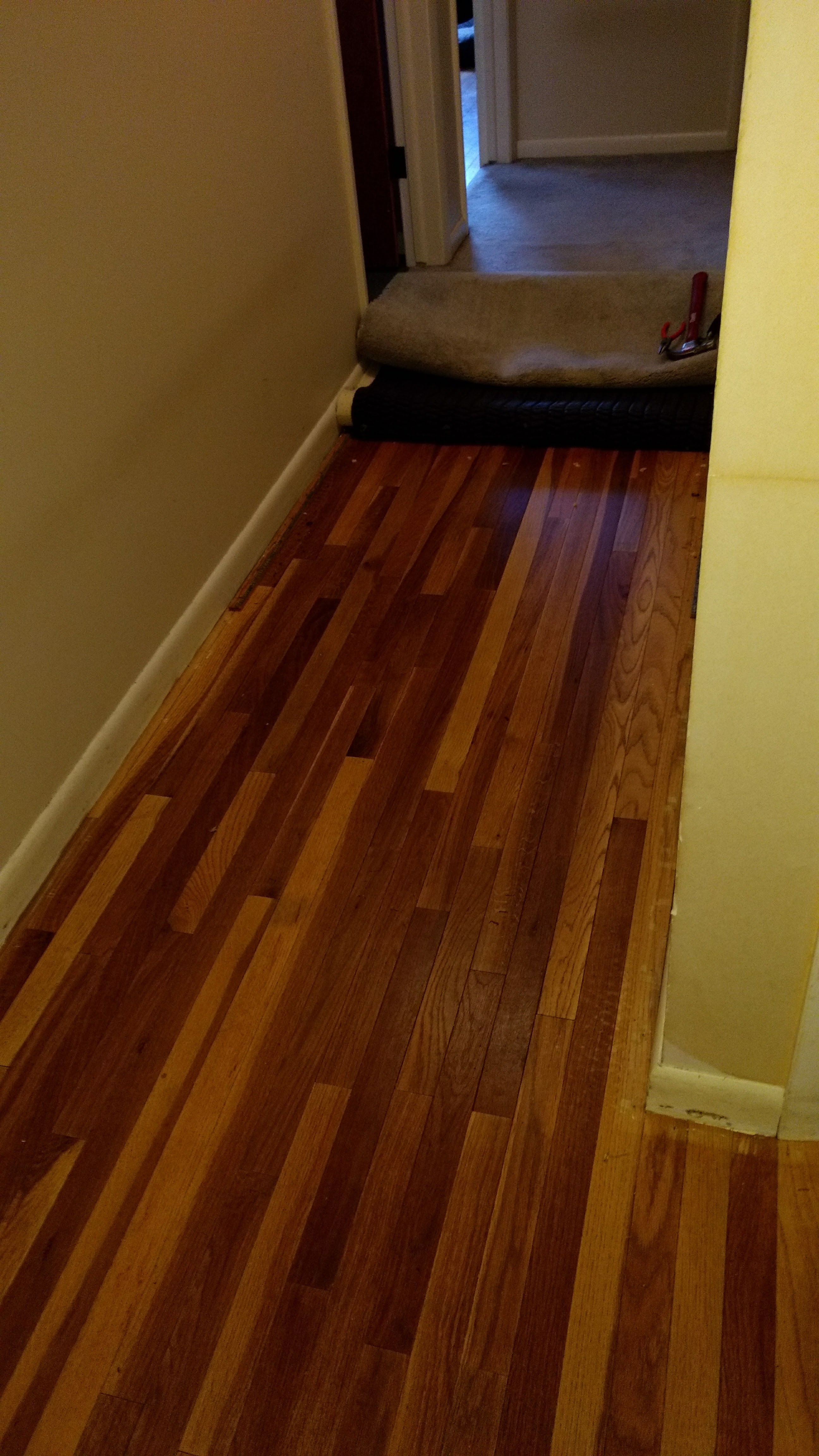 hallway hardwood